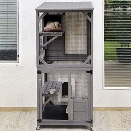 Kittywalk Penthouse with Resting Platforms for Cats