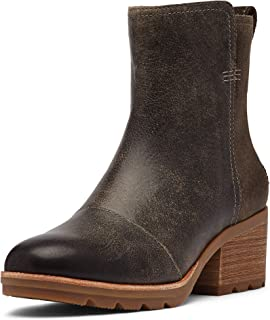 Sorel - Women's Cate Bootie Waterproof Ankle Boot with Stacked Heel