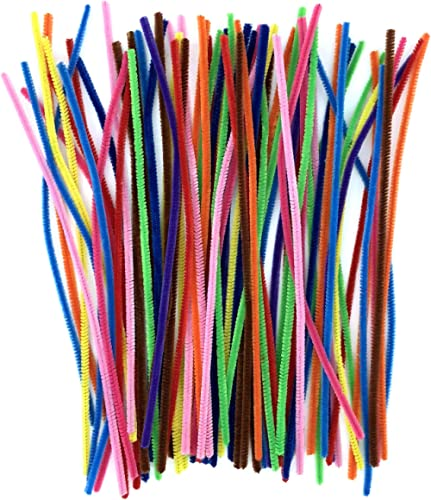 Anvin Pipe Cleaners 100 Pcs 10 Colors Chenille Stems for DIY Crafts Decorations Creative School Projects (6 mm x 12 I...