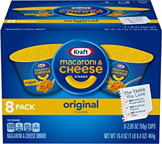 Kraft Easy Mac Original Flavor Macaroni and Cheese Dinner Cups, 8 – 2.5 oz Cups
