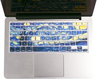 Herngee Starry Night by Van Gogh MacBook Keyboard Cover Compatible with MacBook Air 13