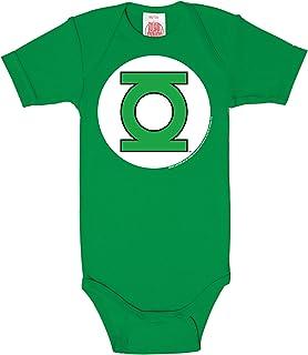 Logoshirt DC Comics Green Lantern Babystrampler Junge I Kleinkinder Body grün kurzärmlig I Lizenziertes Originaldesign I hochwertiger Logo-Print I Schlafstrampler Baumwolle I Vintage Style