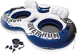INTEX River Run II 2-Person Water Tube Float w/ Cooler & Quick Fill Air Pump