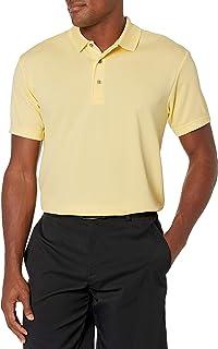 PGA TOUR Men's Airflux Solid Mesh Short Sleeve Golf Polo Shirt