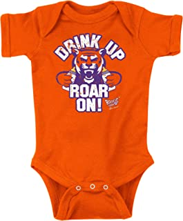Rookie Wear by Smack Apparel Clemson Football Fans. Drink Up Roar On! Orange Onesie (NB-18M) or Toddler Tee (2T-4T)