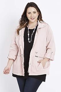 Beme Long Sleeve Pink Rain Jacket - Womens Plus Size Curvy