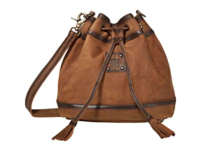 STS Ranchwear Baroness Leather Bucket Bag (Tornado Brown) Bags