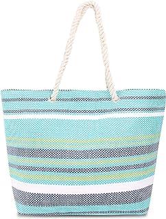normani Strandtasche Schultertasche Handtasche Umhängetasche mit Sommer Design und großem Volumen