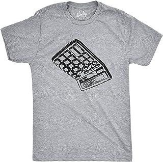 Mens Calculator Boobs Tshirt Funny High School Hilarious Humor Novelty Tee