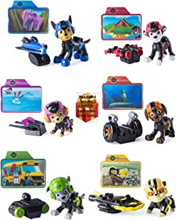 Paw Patrol Set Complete 6 Pups with Instant Badge-Click-and-Transform Packs, 3D Cards and Aralis Gift Activity Book Bonus