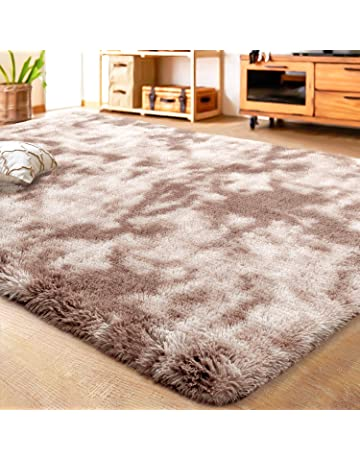 Shaggy Playing Mat for Kids Baby Girls Bedroom Nursery Home Decor Modern Fluffy Colorful Rugs Cute Floor Carpets Wongfon Rainbow Area Rugs for Girls Room