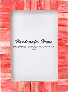 New Real Handmade Black White Bone Photo Picture Vintage Imported Chic Frame Made to Display 4x6 5x7 Pictures (4x6, Red)