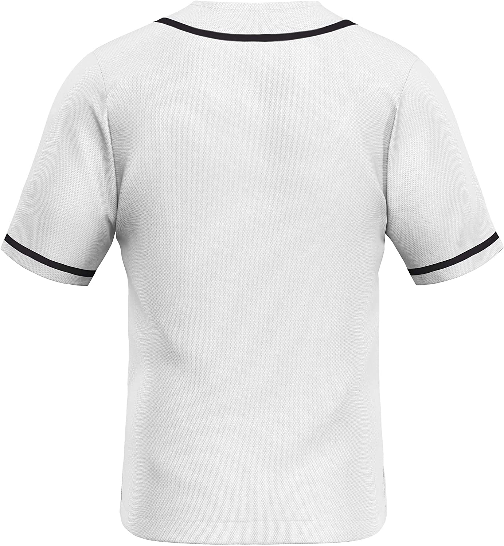 Hip Hop Shirts Hipster Button Down Jersey Blank Plain Button Up Baseball Jersey MOLPE Baseball Jerseys for Men