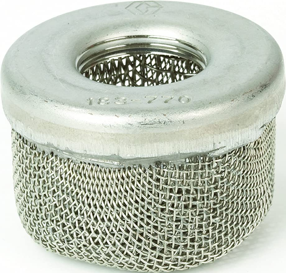 Graco 181072 1-Inch NPSM Inlet Strainer Screen for Airless Paint Spray Guns
