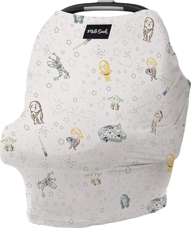 Milk Snob ORIGINAL Star Wars 5-in-1 Cover, Little Galaxy, Added Privacy for Breastfeeding, Baby Car Seat, Carrier, Stroller, High Chair, Shopping Cart, Lounger Canopy - Newborn Essentials, Nursing Top