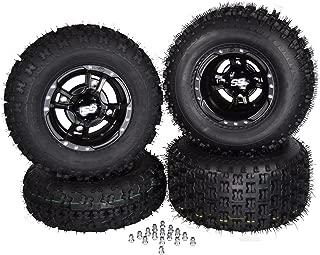 4 NEW Fits HONDA TRX450R & TRX400EX BLACK ITP SS112 Rims & MASSFX Tires Wheels kit
