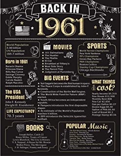 60 Years Ago Birthday or Wedding Anniversary Poster 11 x 14 Party Decorations Supplies..