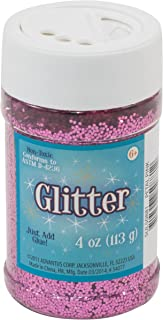 Sulyn Petal Pink Glitter Jar, 4 Ounces, Non-Toxic, Reusable Jar with Easy to Use Shaker Top, Multiple Slot Openings for Easy Dispensing and Mess Reduction, Hot Pink Glitter, SUL50881