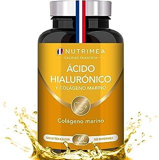 Colágeno Marino y Acido Hialurónico Puro | Con Vitamina A y Vitamina C | Hidratación Piel Antiedad Antirrugas Reduce Líneas
