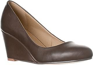 Women's Leah Mid Heel Round Toe Wedge Pumps