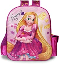 Disney Princess Rapunzel Purple School Bag for Children of Age Group 3 - 5 years| Size 14 inch | Material Satin