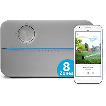 Rachio 8ZULWC-L R3e Generation: Smart, 8 Zone Sprinkler Controller, Works with Alexa, Gen, Gray