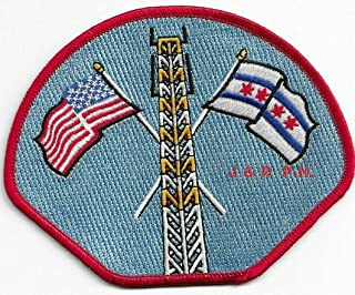 Embroidered Patch - Patches for Women Man - Chicago Fire Dept, Illinois