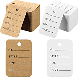 500 Pieces Clothing Tags Marking Tags Unstrung Clothing Tags Merchandise Marking Tags Display Label Store Tags Clothes Tags for Clothes Retail Store