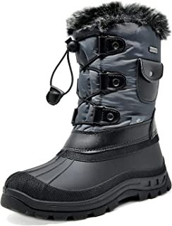 DREAM PAIRS Boys Girls Insulated Waterproof Winter Snow Boots