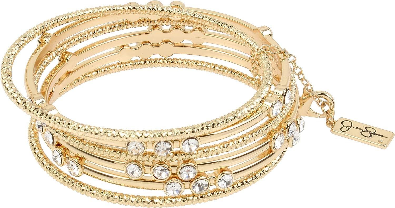 Jessica Simpson Stone Mixed Bangle Bracelet Set