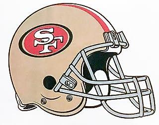 aa g 4 Pack San Francisco 49ers Die Cut Stickers NFL Football Helmet Logo Sticker Team Set Niners Gold Rush