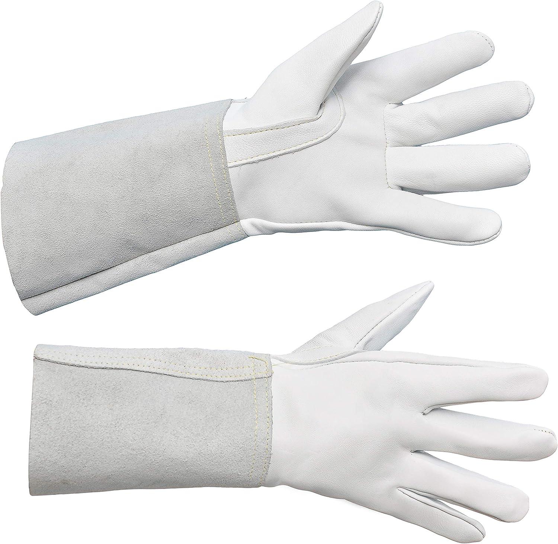 ABTW New mail order Welders Gloves 1Pair - Goatskin Leather Split Albuquerque Mall Premium with