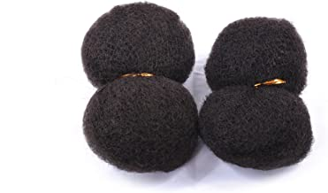 Tight Afro Kinky 100% Human Hair 2 Bundles of 8 Inch, 1oz Each. Natural Color for Extensions for Black Women and Others. I...