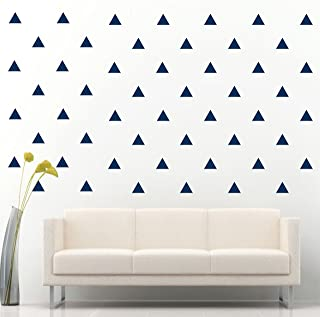 """JCM CUSTOM Piece 96 Removable Easy Peel and Stick, Wall Vinyl Decal Sticker, DIY Decor/Safe on Painted, Triangle, 3"""" W X 2.5"""" L, Navy Blue"""