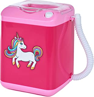 Grazielle Makeup Brush Cleaner Unicorn | Beauty Blender Washing Machine Portable Toy | Clean Brushes Electric Washer Cosmetics Girls Paint
