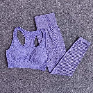 Beiziml Women Seamless Yoga Set Sportswear Fitness Clothes Gymnastics Running Leggings Padded Workout Pants Sports Bras 2 ...