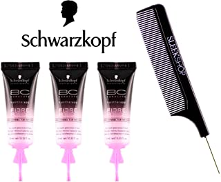Schwarzkopf BC Bonacure Fibre Force Bond Connector Infusion (with Sleek Steel Pin Tail Comb) ((3-pack) x 0.33 oz)