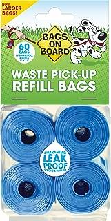 Bags on Board Dog Poop Pickup Bags, Blue Four Pack