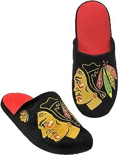 FOCO NHL Mens 2011 Big Logo Men Slipper TPR Sole