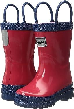 Hatley Kids - Red & Navy Rain Boots (Toddler/Little Kid)
