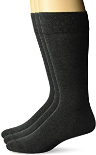 Amazon Brand - Buttoned Down Men's 3-Pack Pima Cotton Dress Socks