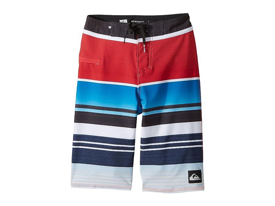 Quiksilver Kids Everyday Stripe Vee Boardshorts (Big Kids) (Chilli Pepper) Boy