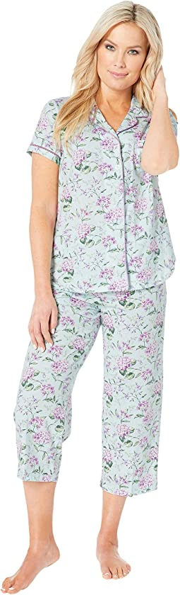 Petite Cloud Nine Short Sleeve Girlfriend Capris PJ