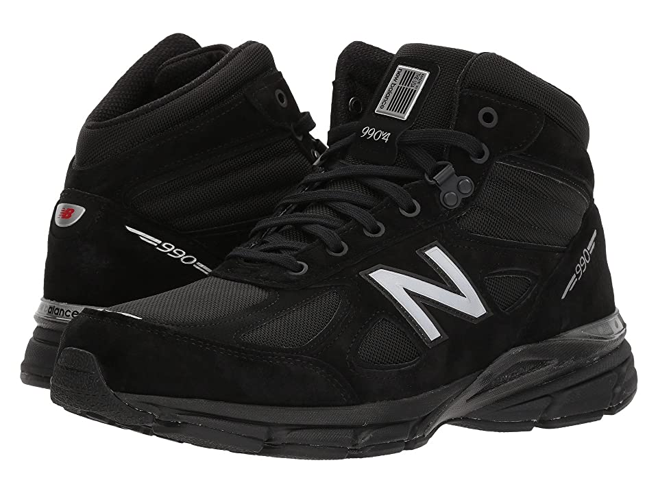 New Balance 990v4 Boot (Black Grey) Men s Pull-on Boots 86a0ca8a3038