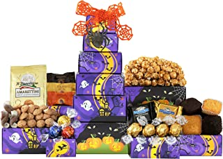 Wine Country Gift Baskets Chocolate Lovers Halloween Tower Full of Godiva Ghirardelli and Lindt