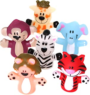 SNInc. Animal Finger Puppets for Kids - 24 Zoo Themed Puppets Per Pack