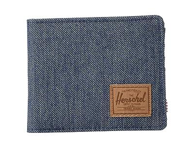 Herschel Supply Co. Roy RFID (Indigo Denim Crosshatch/Saddle Brown) Wallet Handbags