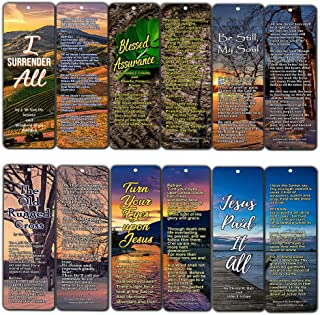 Hymn Christian Bookmarks (30-Pack) 7 X 2.2 in