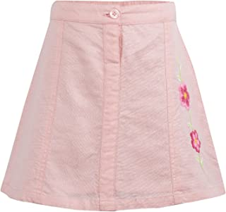 MIYO Pink Foil Print Short Skirt with Embroidery