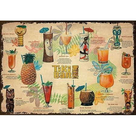 I only drink to make you more Poster métal 15x20cm café pub bar brasserie tiki